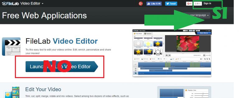 FileLab Online Video Editor Access