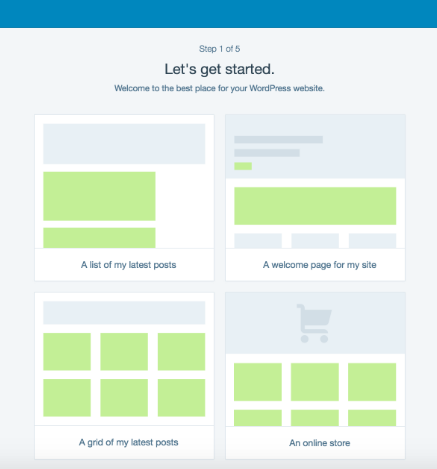 Wordpress homepage layout