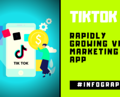 TikTok Rapidly Growing Video Marketing App Infographic