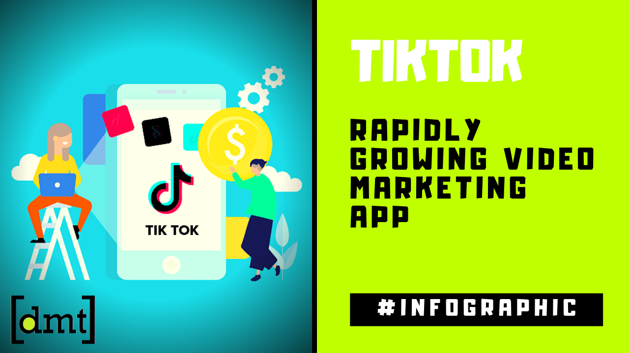 TikTok Rapidly Growing Video Marketing App Infographic